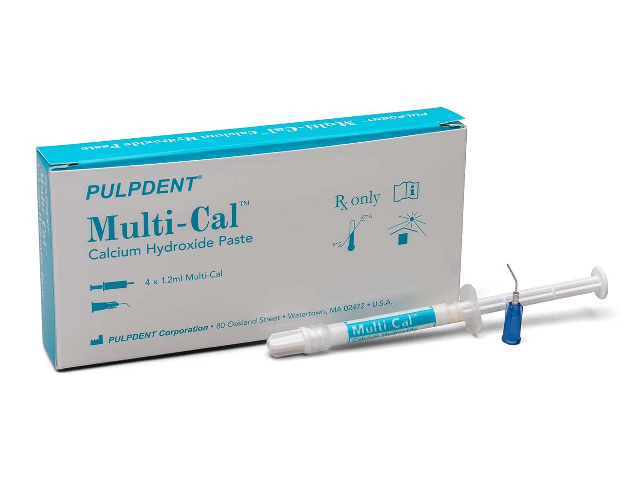 Multi-Cal-Calciumhydroxidpaste-1,2ml Einzelspritze mit 4er Packung